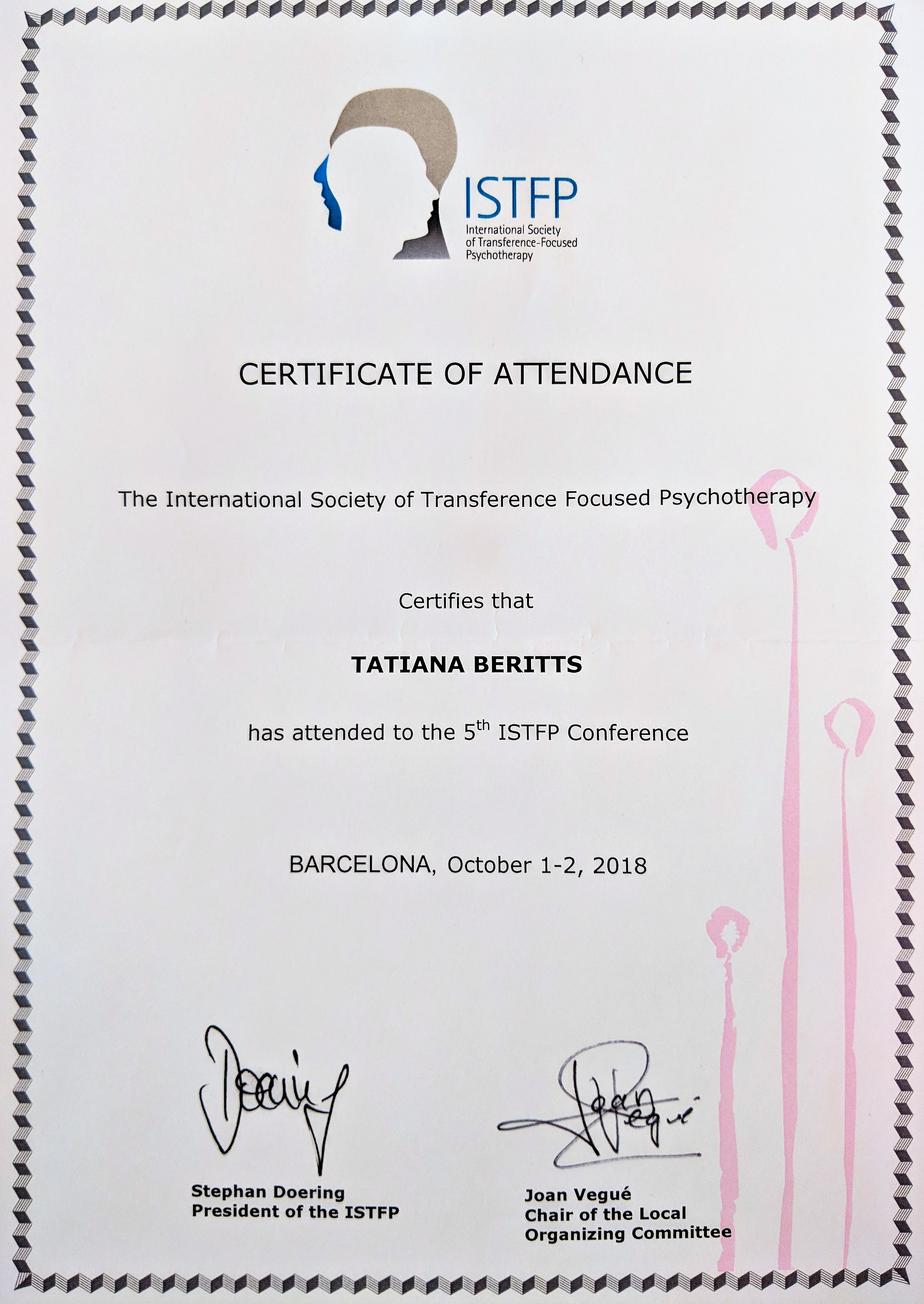 ISTFP conference